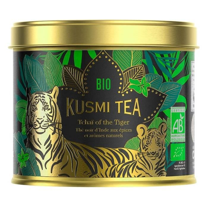 KUSMI TEA Tchaï of the Tiger - Boîte métal - 100 g