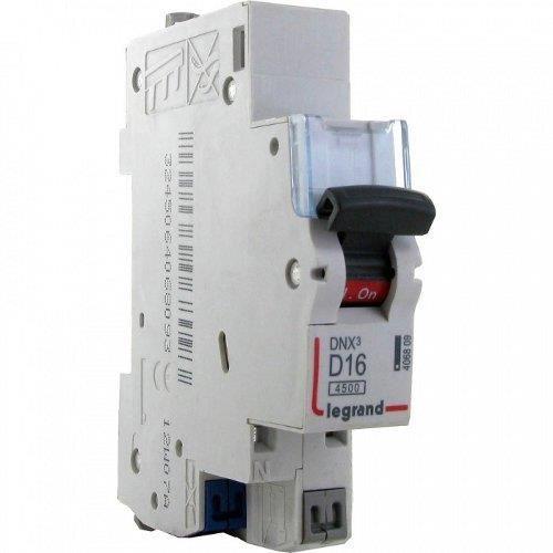 Disjoncteur DNX³ 4500 U+N 230V 16A Courbe D aut...