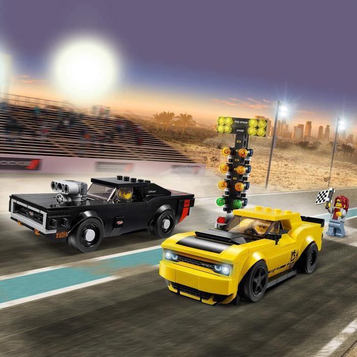 LEGO Speed Champions - Dodge Challenger SRT Demon 2018 et Dodge Charger R/T 1970 - 75893 - Jeu de construction