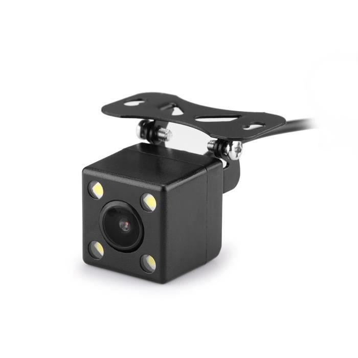 Caméra de recul arrière pour voiture, 170 °, caméra de recul parking grand angle CMOS IP67 Carré