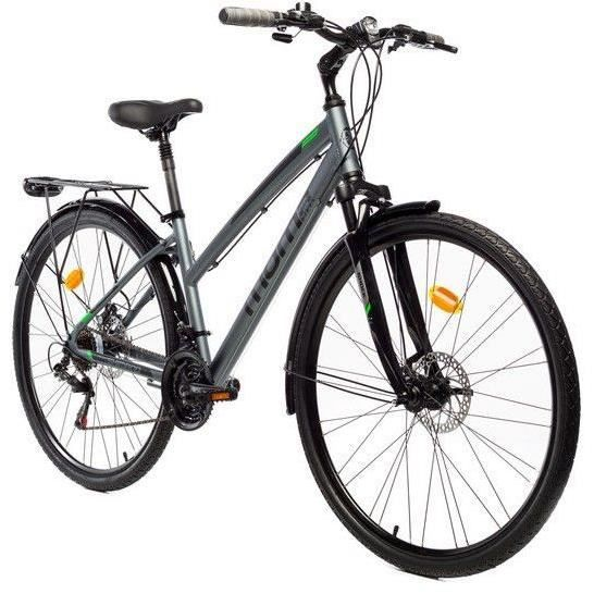 Vélo Trekking Pro W 28- Moma Bikes aluminium Shimano 21v. freins à disque