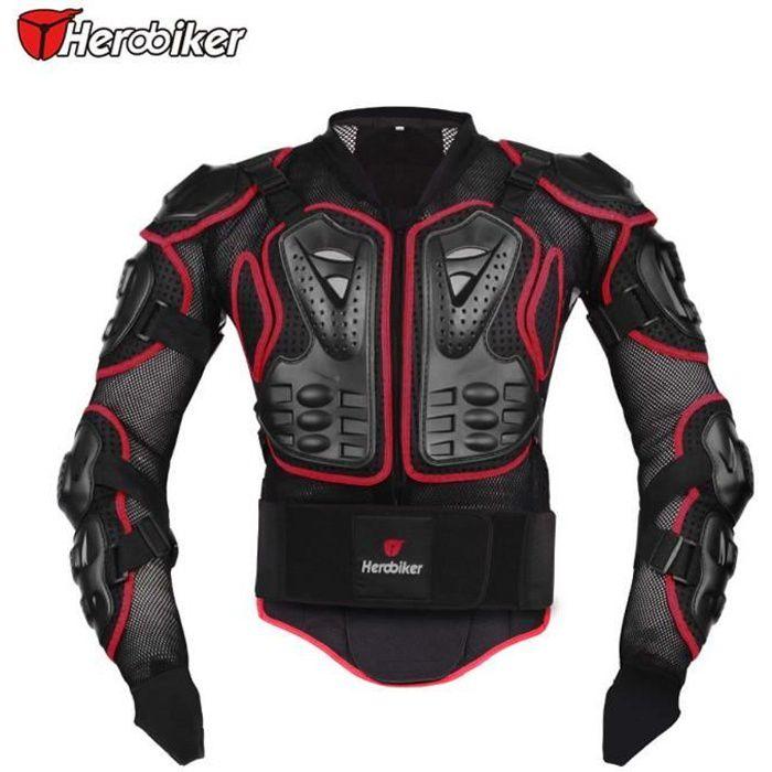 Rouge veste de moto . moto armure protectrice protection du corps moto Armure