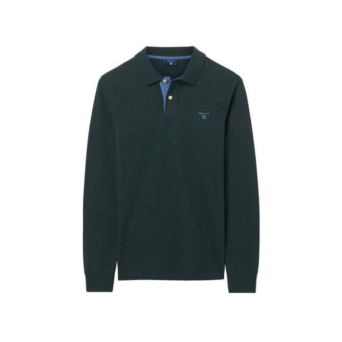 Gant Polo Manches Longues Vert Homme 255105-387