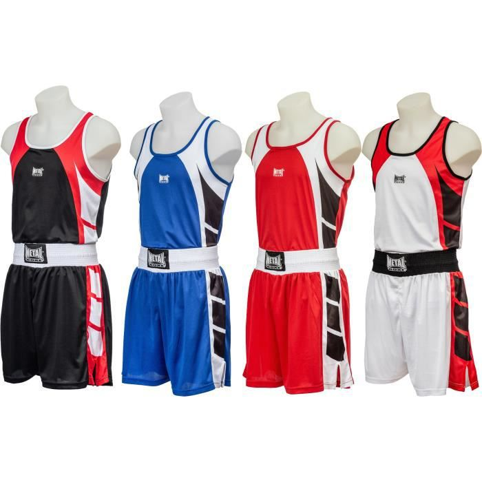 -Tenue de boxe Anglaise Métal boxe adultes-XL- Rouge---XL- Rouge-----XL - Rouge--------- Rouge-XL