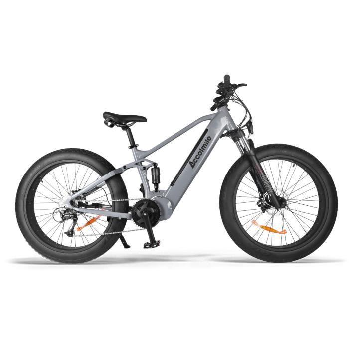 ACCOLMILE Vélo à assistance électrique 1000W GRIS avec BAFANG Moteur pédalier BBSHD et LG Batterie 48V Cellules 18653