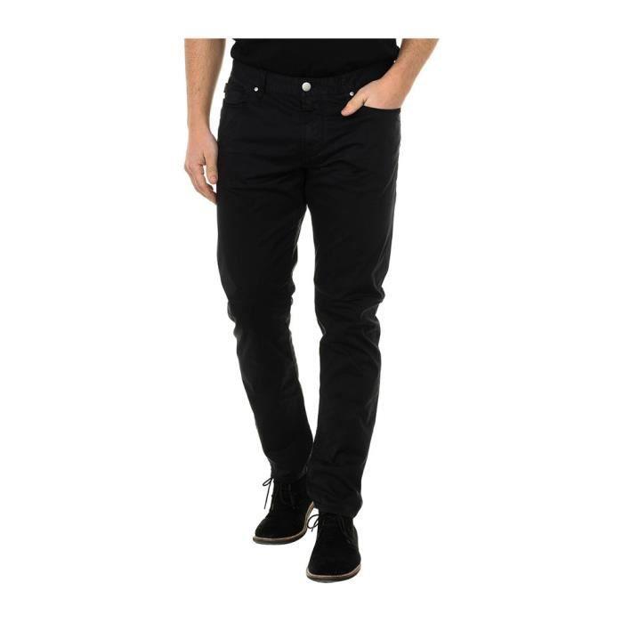 Jeans Armani Noir Slim pour hommes. C6J83 12.