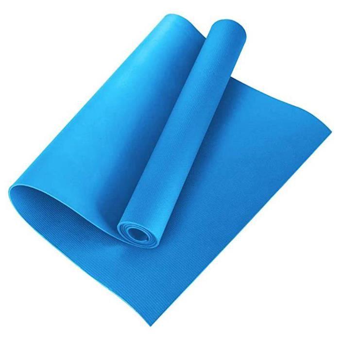 Tapis de Yoga Antidérapant, Epais, Ecologique et Non Toxique . Un Tapis Yoga Parfait pour Sport au Sol, Gym et Fitness - bleu