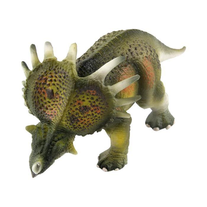 1 pc Artificiel Styracosaurus Modèle En Plastique Dinosaure Cadeau D'anniversaire pour Enfants Garçons (Vert) JOUET DE BAIN