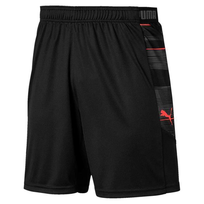 Puma 656431 - COMMUTATEUR KVM - ftblNXT Graphic Shorts Homme, Black/NRGY Red, FR (Taille Fabricant : 3XL)