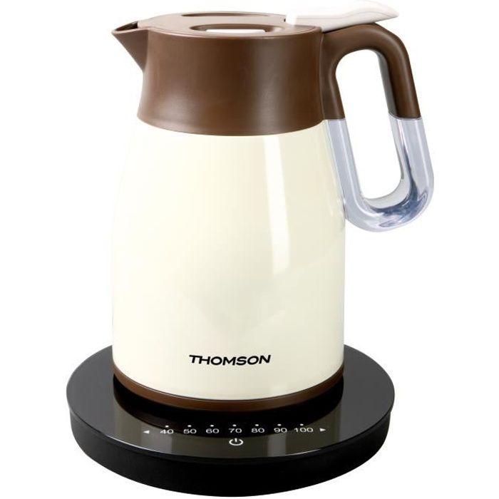 THOMSON THKE09093CR Bouilloire électrique isotherme programmable - Crème