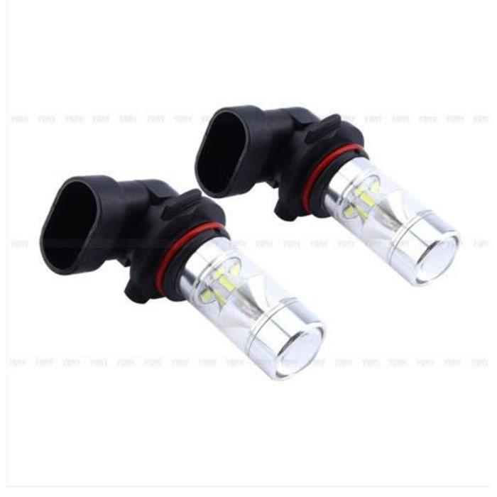 2 pcs 9006 HB4 12SMD 2,323 brouillard Ampoule 60W Blanc Voiture Lampe LED