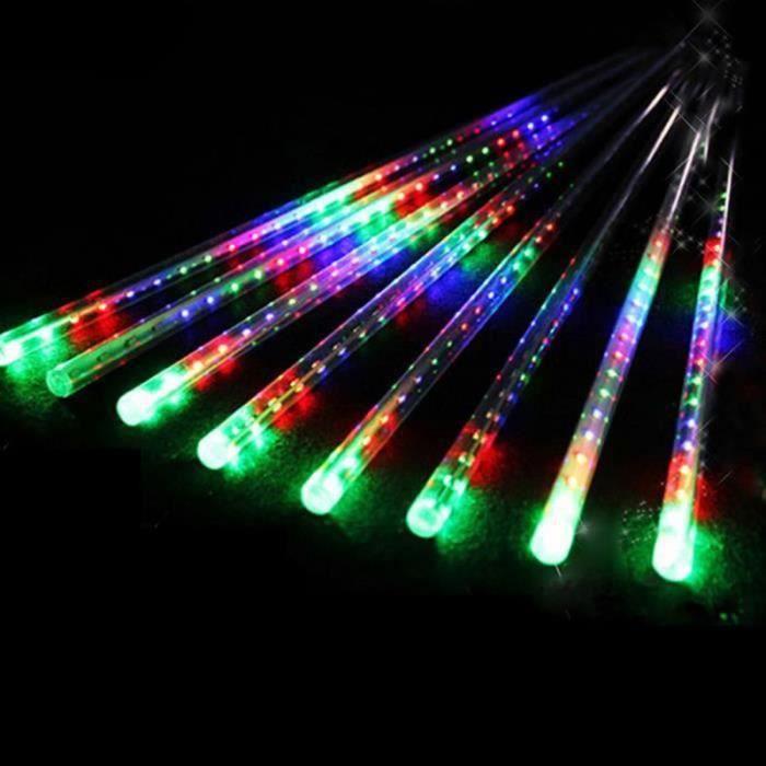 GWH-8 Tubes 30CM 24 LED Météore Pluie Lumineuses Guirlandes Étanches pour Décor Noël Mariage Fête Soirée Maison Arbre Jardin