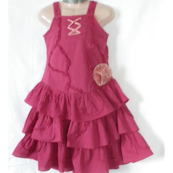 ROBE FRAMBOISE PICK OUIC 3 ANS