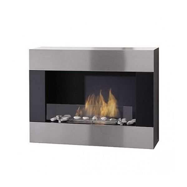 chemin e ethanol mural glamfire inox bross achat. Black Bedroom Furniture Sets. Home Design Ideas