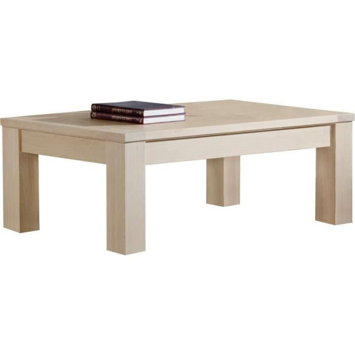Table Basse Rectangulaire Ch Ne Massif Naturel Achat