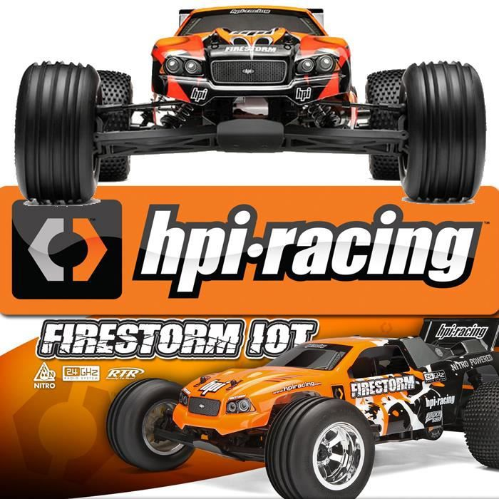 voiture thermique truggy firestorm 10t hpi racing 1 10 2 4 ghz rtr prix pas cher. Black Bedroom Furniture Sets. Home Design Ideas