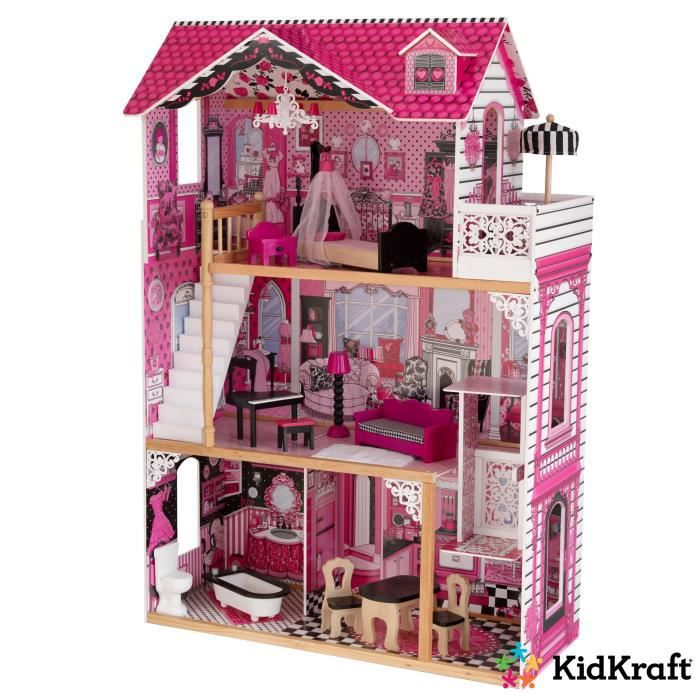 kidkraft maison de poup es en bois am lia achat vente maison poup e cdiscount. Black Bedroom Furniture Sets. Home Design Ideas