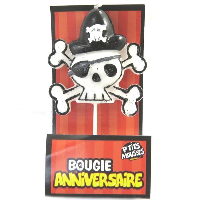 Les Tresors De Lily M5209 Bougie Joyeux Anniversaire Tete De Mort Pirate 7 5x4 Cm Achat Vente Bougie Anniversaire Cdiscount
