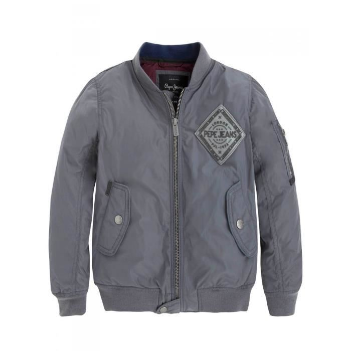 pepe jeans blouson bombers imperm able gris ado gar on pepe jeans gris achat vente blouson. Black Bedroom Furniture Sets. Home Design Ideas