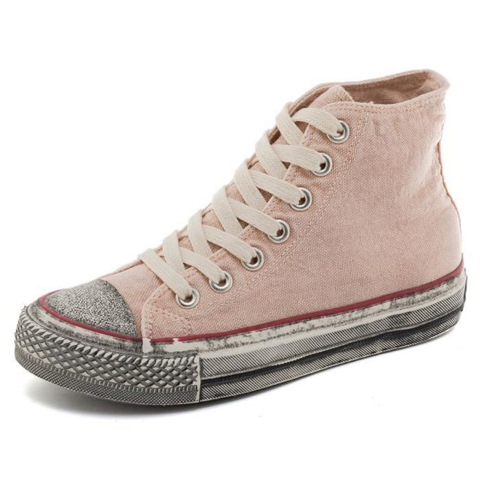679e160c582b0f Baskets - mode - femme Sneakers chaussures de toile - Rose Rose Rose ...