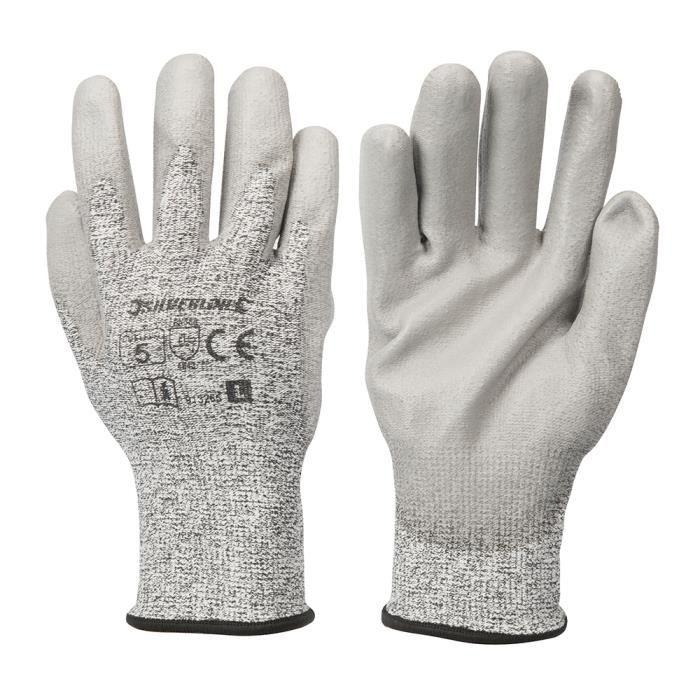 SILVERLINE Gants anti-coupures classe 5