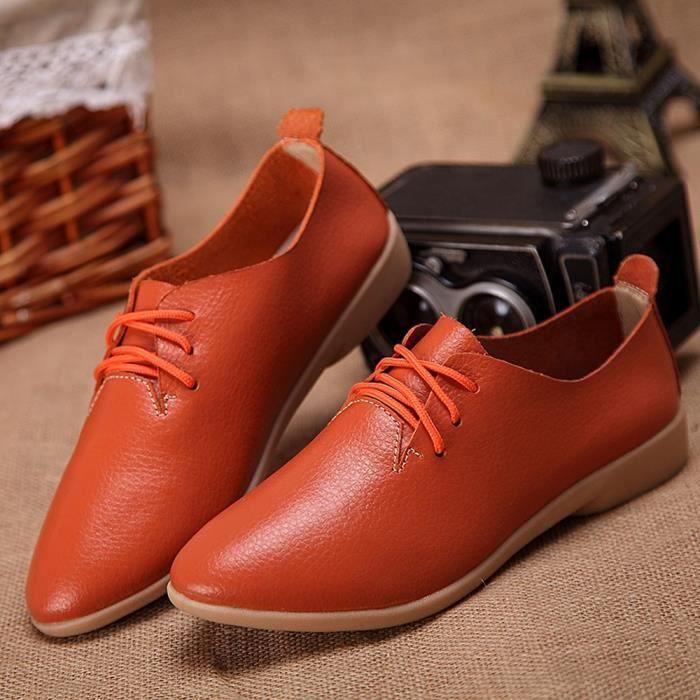 Jeffrey®Chaussures de mode femmes plates-formes bout rond chaussures plates Slip loisirs Sneakers@argent