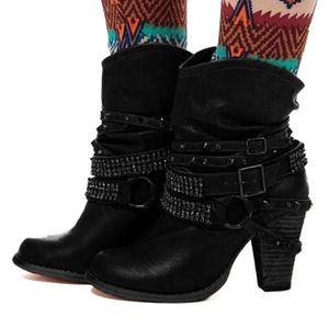 Femme Mixte Couleur Talon Haut Compensé Plateforme Cheville Bottes Chaudes Knight Chaussures V841