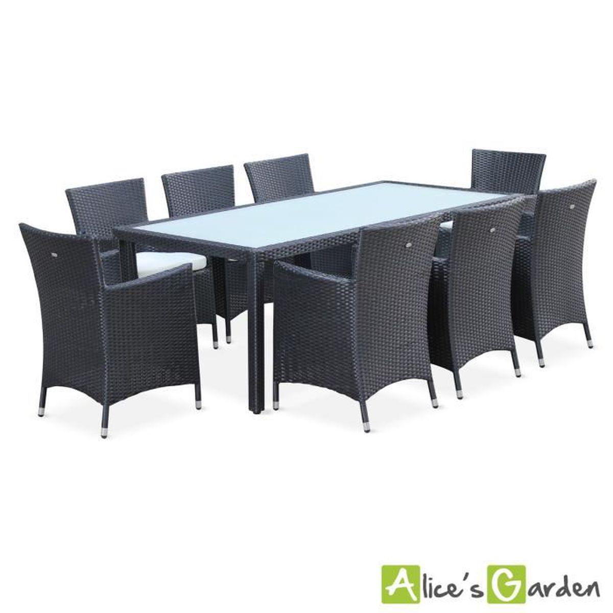 Capri - table de jardin résine tressée 8 places - Achat ...