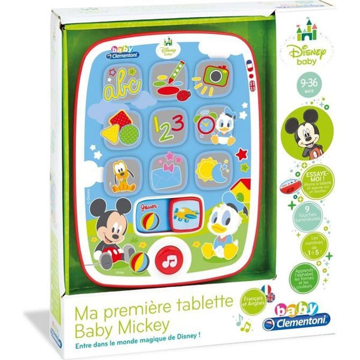 Tablette Enfant Bebe Disney Mickey Musicale Jeux Electronique Educatif Multimedia Lettre Couleur Forme Chiffres Cadeau Jouet Noel