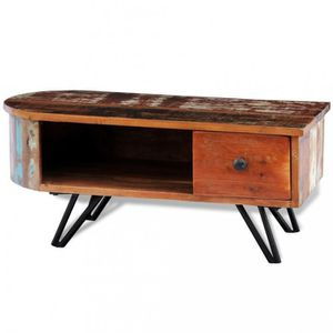 TABLE BASSE Tables basses Table basse en bois recycle solide a