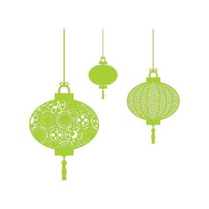 STICKERS Stickers Lampion Chinois Ref: ODZ2207 Vert pomme 5