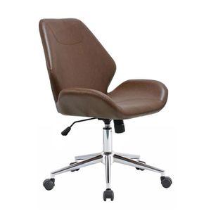 CHAISE DE BUREAU Chaise de bureau à roulettes 58x63,5x89 cm en PU v