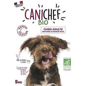 CROQUETTES Canichef croquettes BIO chien grande race 5 kg
