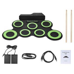 BATTERIE Set Batterie électronique Portable, Roll Up Tambou
