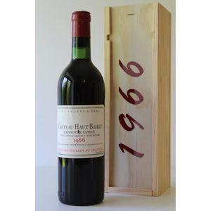 COFFRET CADEAU VIN Coffret Château HAUT BAILLY 1966 Rouge 75cl AOC Gr