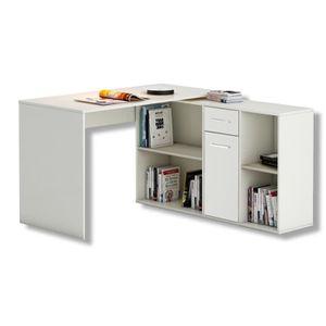 BUREAU  Bureau d'angle CARMEN table avec meuble de rangeme