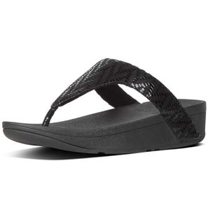TONG chaussures femme tongs fitflop lottie chevron-sued