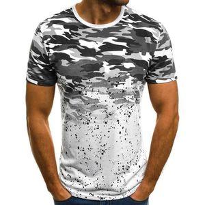 T-SHIRT T-shirt homme à manches courtes camouflage T-shirt