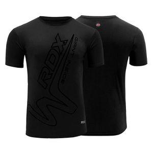 T-SHIRT MAILLOT DE SPORT RDX T Shirt Boxe D'entraînement Manches Courtes MM
