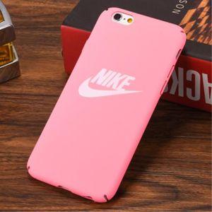 nike coque iphone 6 6s rose logo