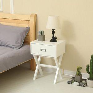 Table de nuit Chevet design scandinave décor blanc ...