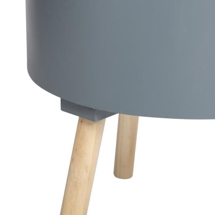 2 en 1 Table basse + coffre de rangement - Coloris GRIS Foncé