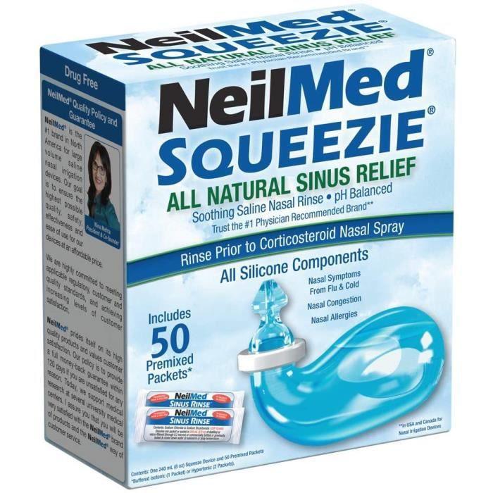 Soin du nez et des oreilles Squip NasaKleen Squeezie with Nasal Irrigation System- Pack of 50 Saline Sachets 487471