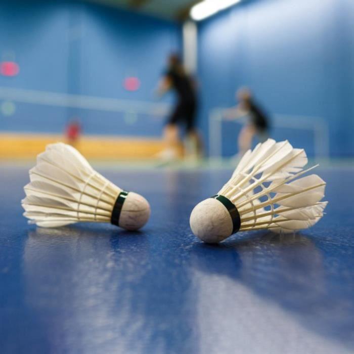 12Pcs Badminton Durable Boule de Volant Stable en Plume Planche-DBA