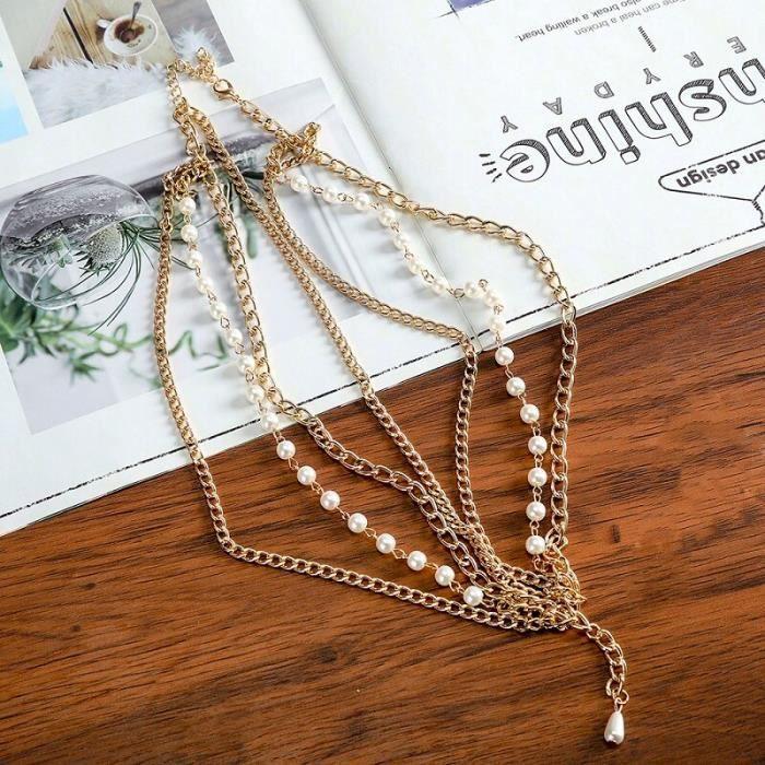 6510D -Haimeikang – bandeau bohème argent et or, accessoires de cheveux, bijoux pour femmes, tête de fleur, chaîne, front, mariage