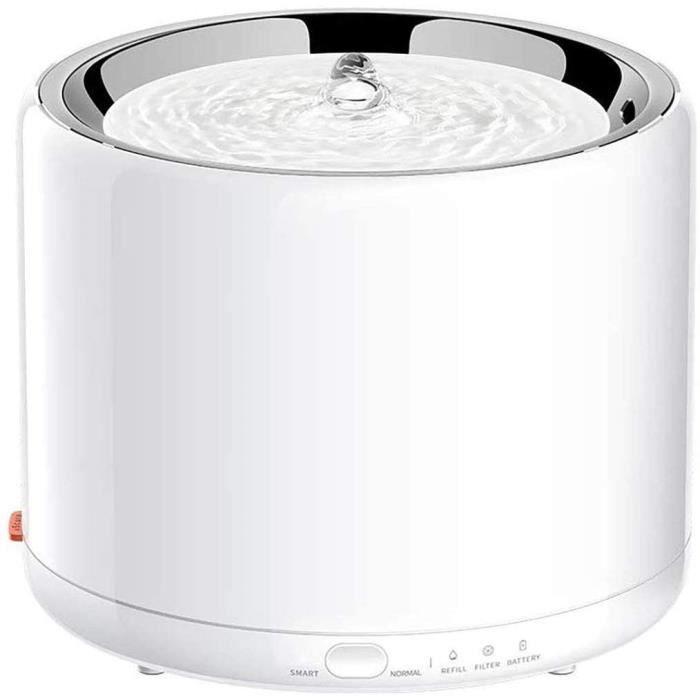 PETKIT Fontaine à Eau pour Chat en Acier Inoxydable, Distributeur d'eau Intelligent Chat 1,35L, Lumière LED Intégrée, Pompe Ultra-Si