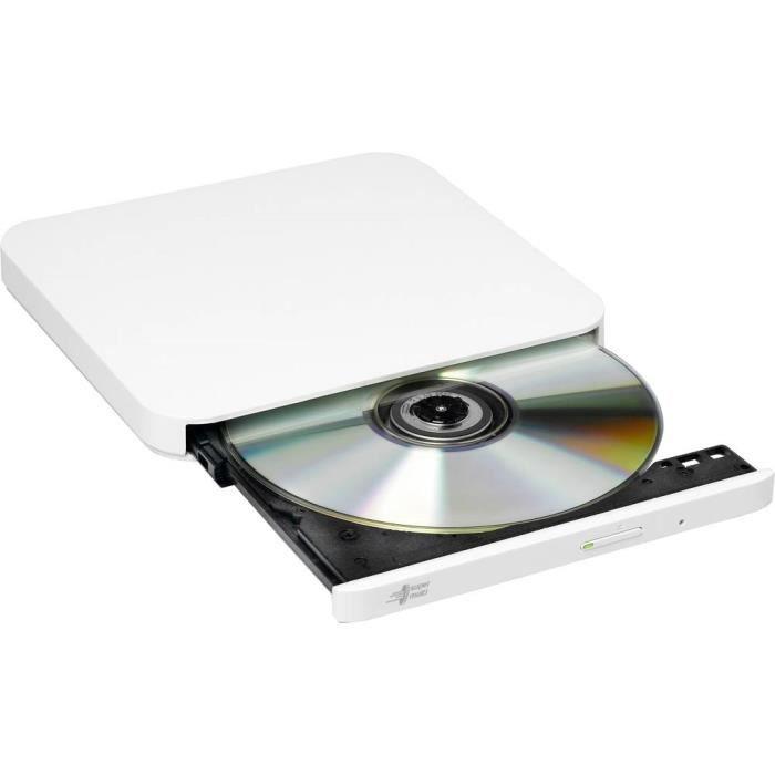 Graveur DVD externe HL Data Storage GP90 au détail USB 2.0 blanc
