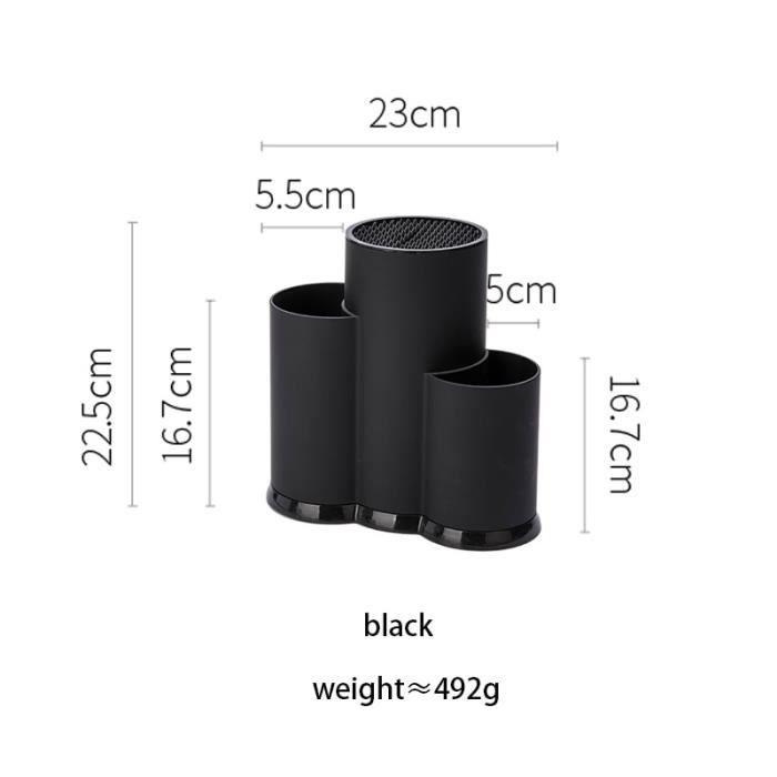 Meuble Cuisine,MDZF balayette multi fonction porte ustensile couteau bloc PP couverts égouttoir boîte de rangement - Type black