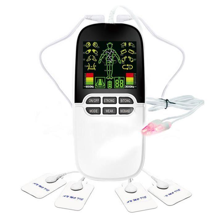 Électrostimulateur Tens Anti Douleur, Massage Electrode, pour Le Dos, Le Stress sciatique et Les douleurs Musculaires, 8 Pads