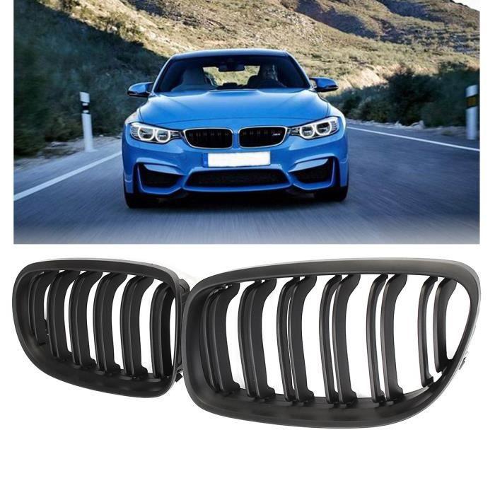 NEUFU 2Pcs Grille Calandre Rein Avant Noir Mat Pour BMW Série 3 E90 E91 2009-2011